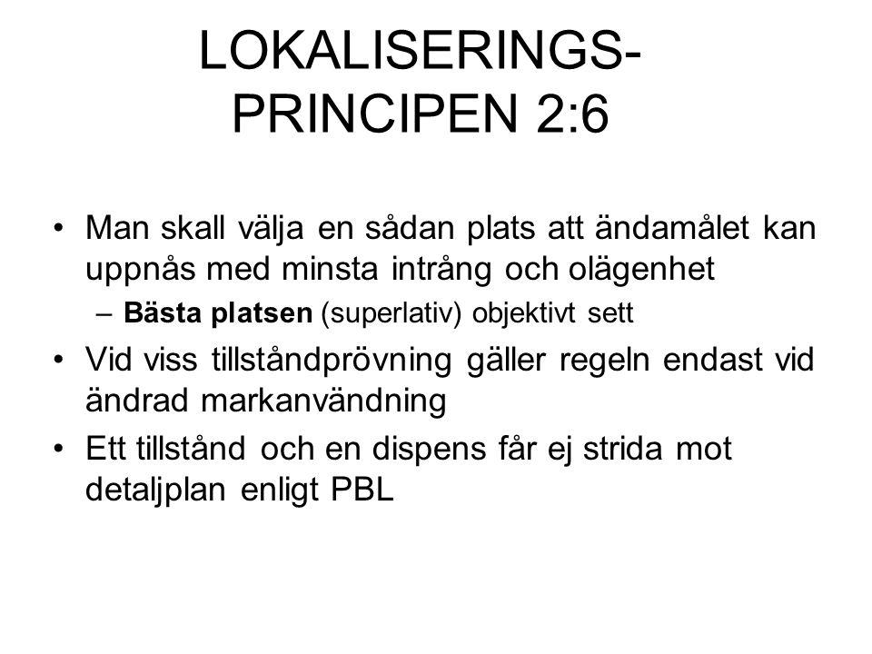 LOKALISERINGS- PRINCIPEN 2:6