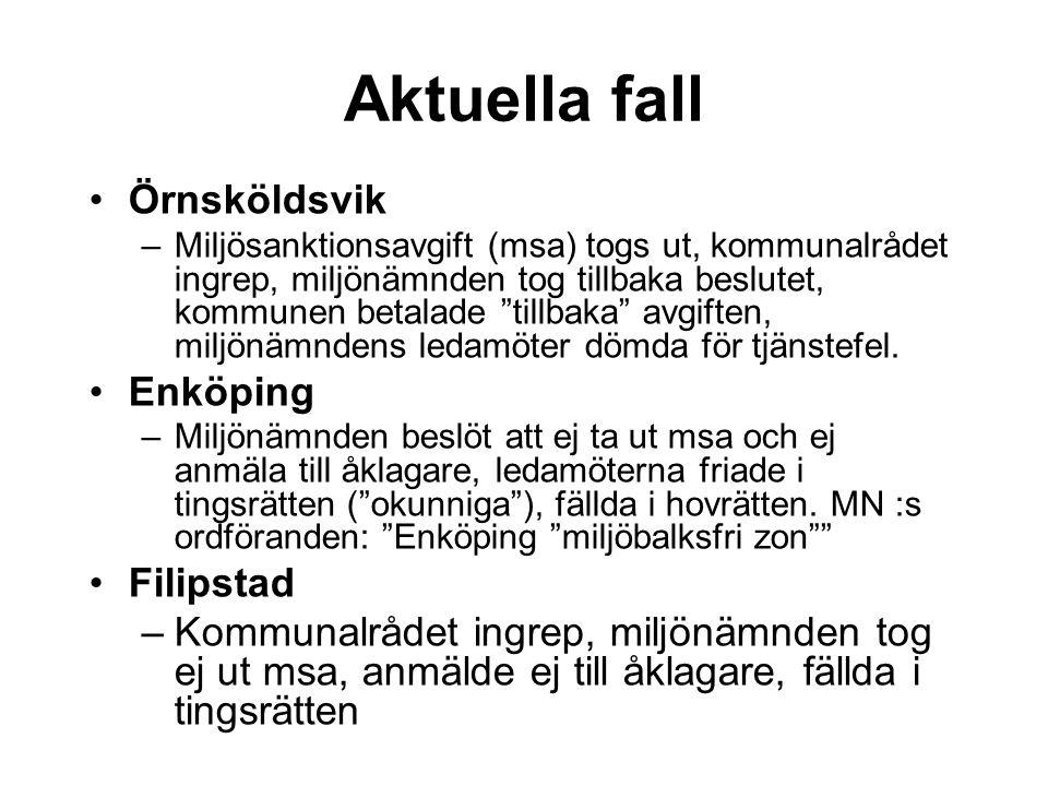 Aktuella fall Örnsköldsvik Enköping Filipstad