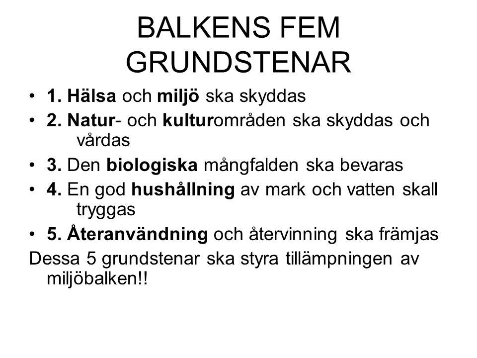 BALKENS FEM GRUNDSTENAR
