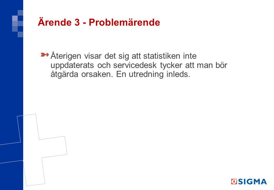 Ärende 3 - Problemärende