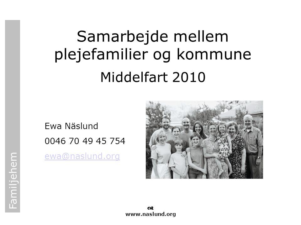 Samarbejde mellem plejefamilier og kommune