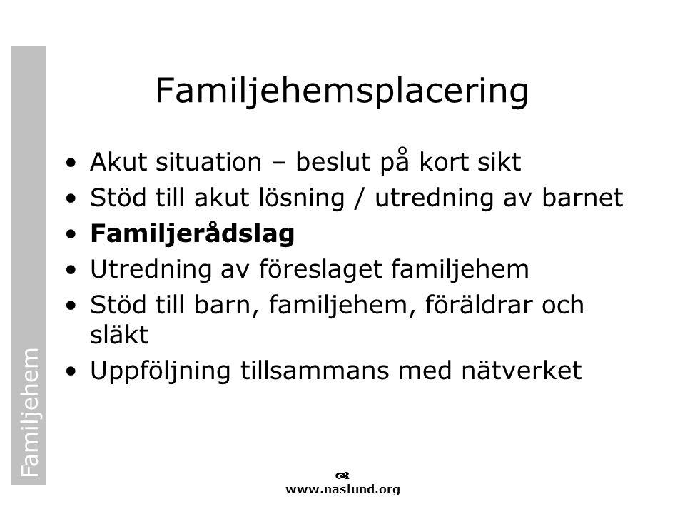 Familjehemsplacering