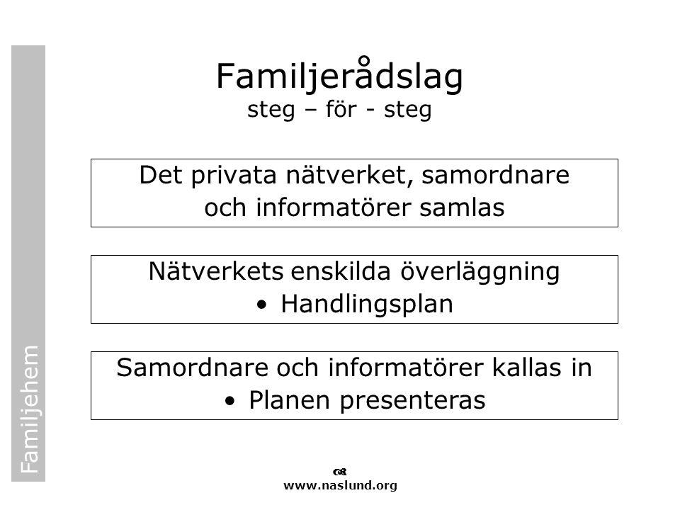 Familjerådslag steg – för - steg