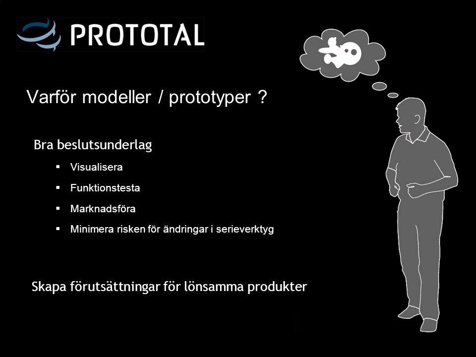 Varför modeller / prototyper