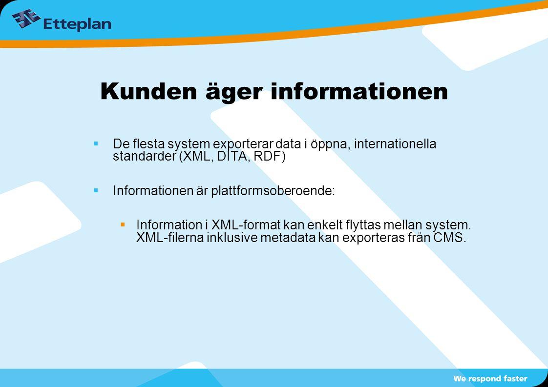 Kunden äger informationen