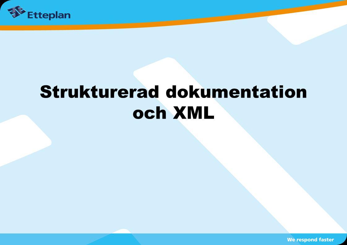 Strukturerad dokumentation och XML