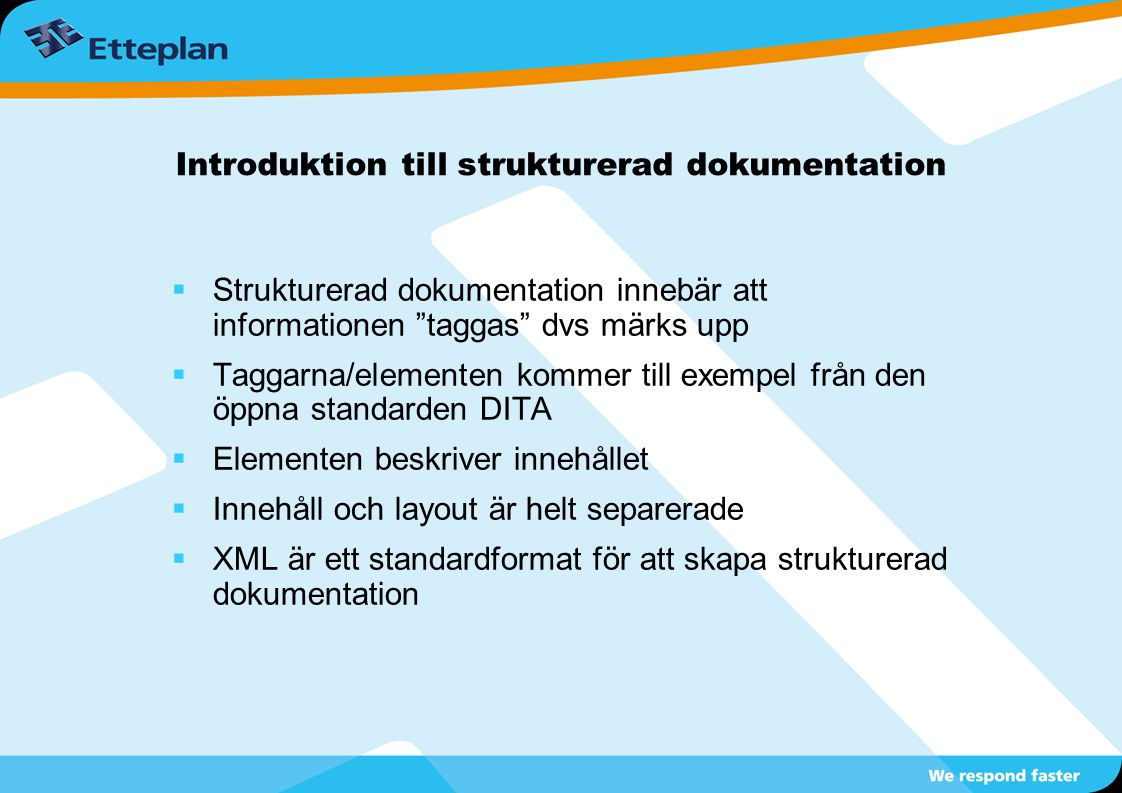 Introduktion till strukturerad dokumentation