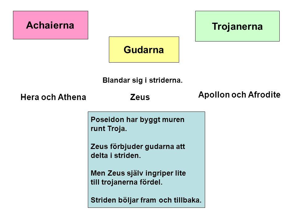Achaierna Trojanerna Gudarna