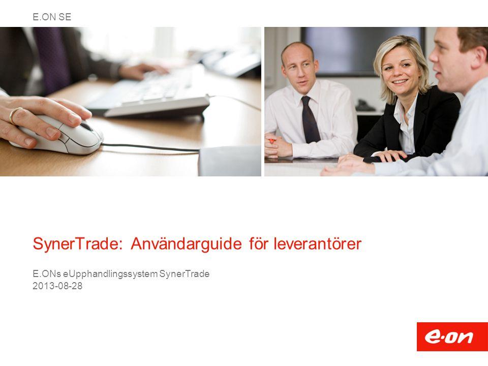 SynerTrade: Användarguide för leverantörer