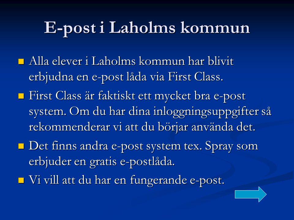 E-post i Laholms kommun