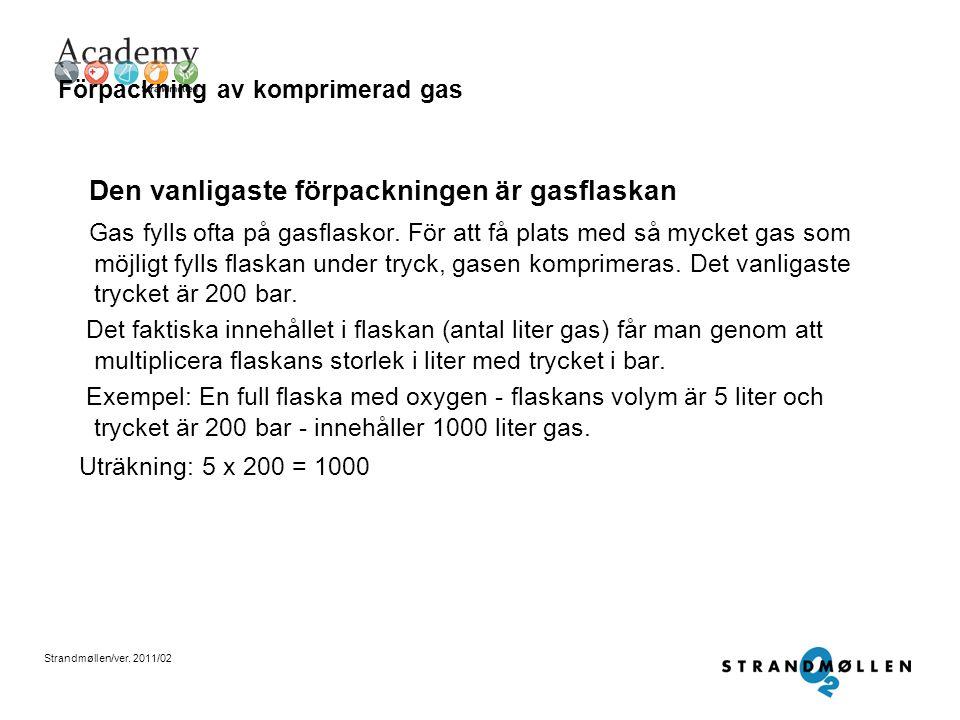 Förpackning av komprimerad gas