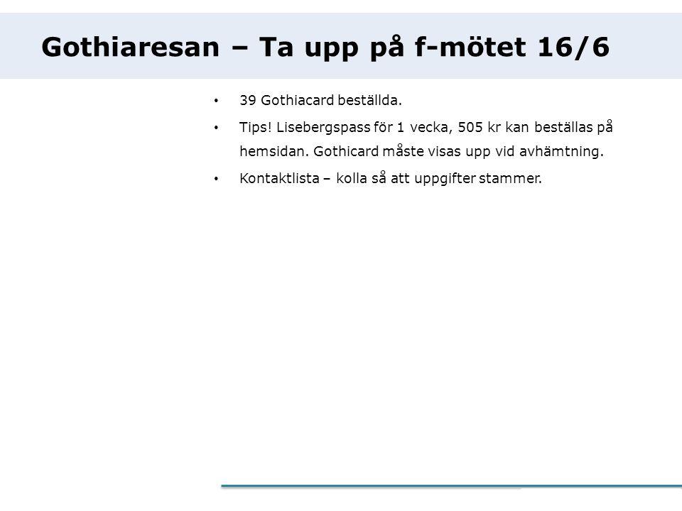 Gothiaresan – Ta upp på f-mötet 16/6