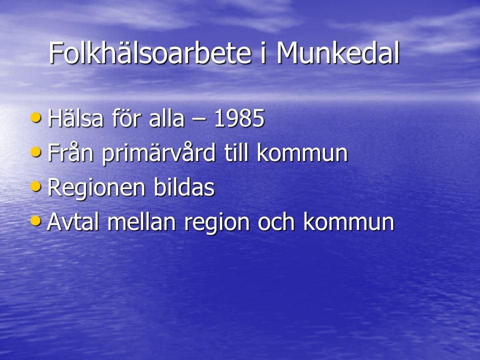 Folkhälsoarbete i Munkedal