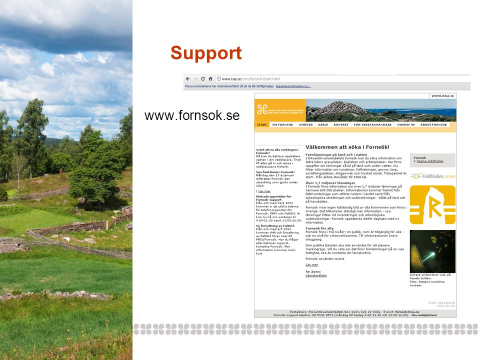 Support www.fornsok.se