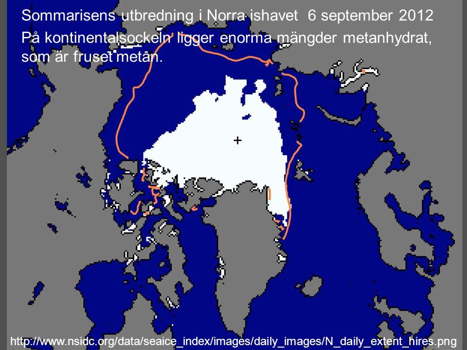 Sommarisens utbredning i Norra ishavet 6 september 2012