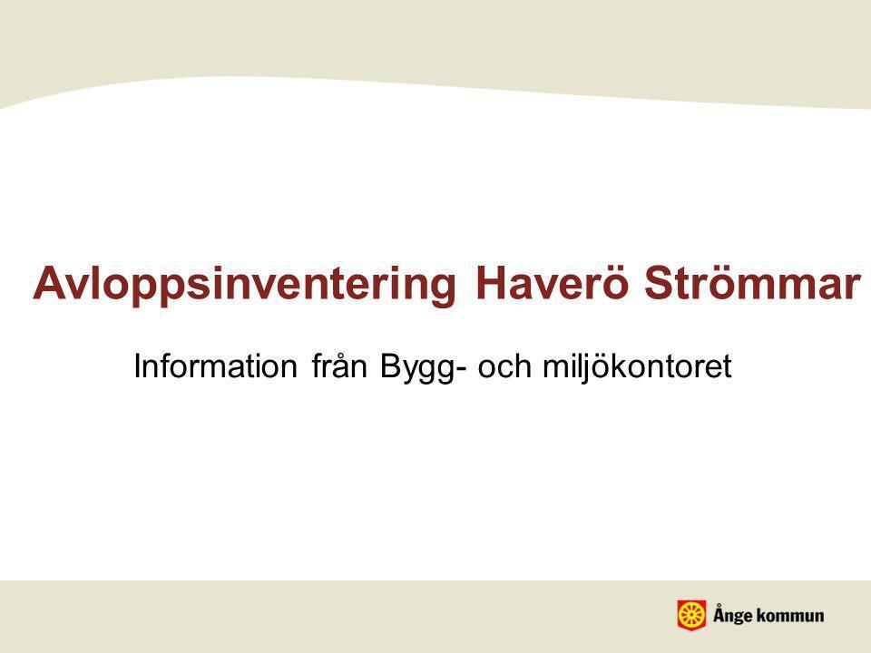 Avloppsinventering Haverö Strömmar