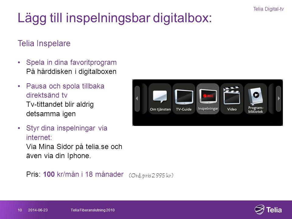 Lägg till inspelningsbar digitalbox:
