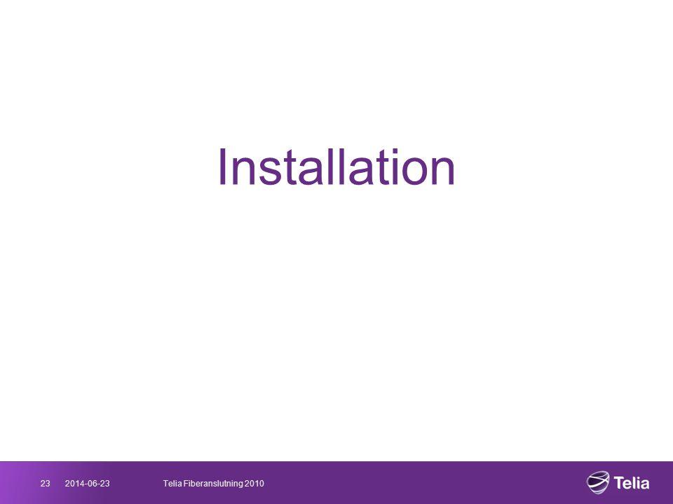 Installation 23 2017-04-03 Telia Fiberanslutning 2010 03/04/2017