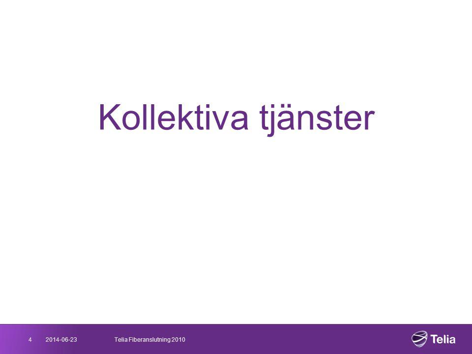 Kollektiva tjänster 4 2017-04-03 Telia Fiberanslutning 2010 03/04/2017