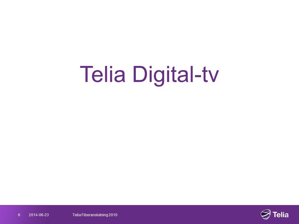Telia Digital-tv 6 2017-04-03 Telia Fiberanslutning 2010 03/04/2017