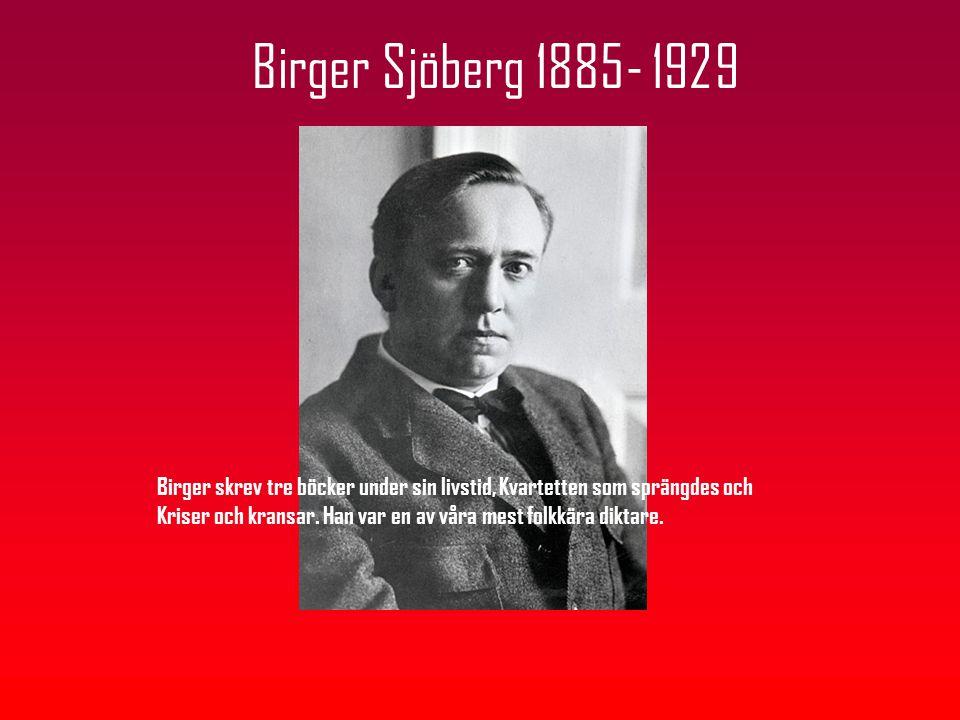 Birger Sjöberg 1885- 1929