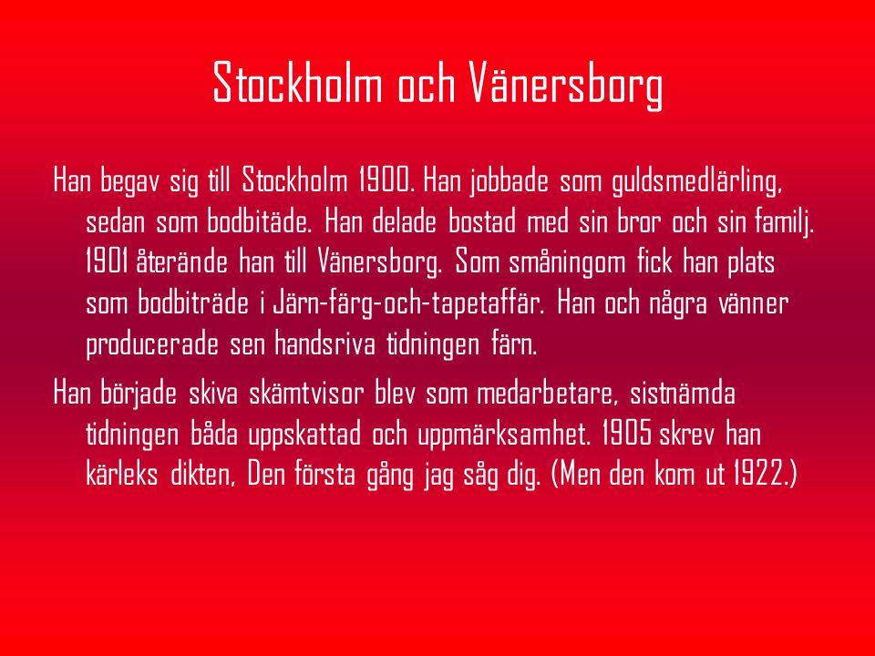 Stockholm och Vänersborg