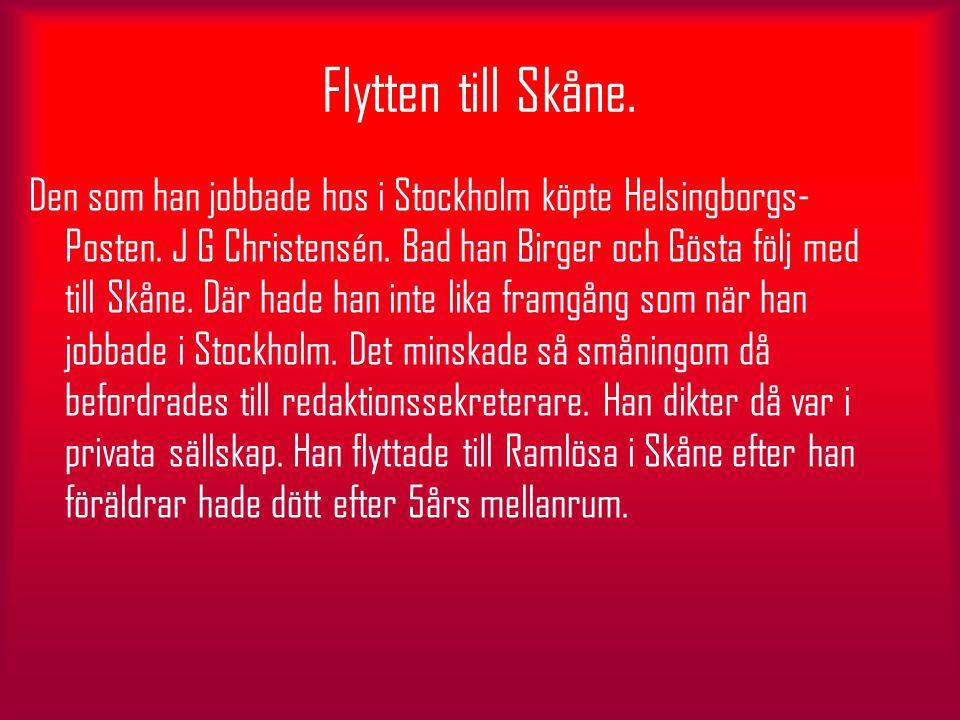 Flytten till Skåne.