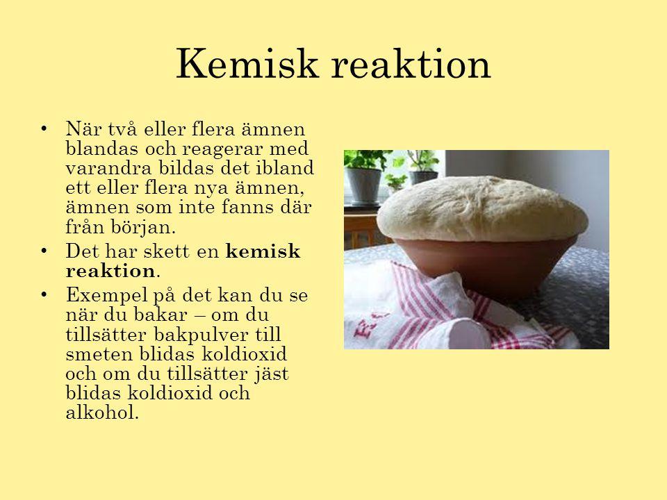 Kemisk reaktion
