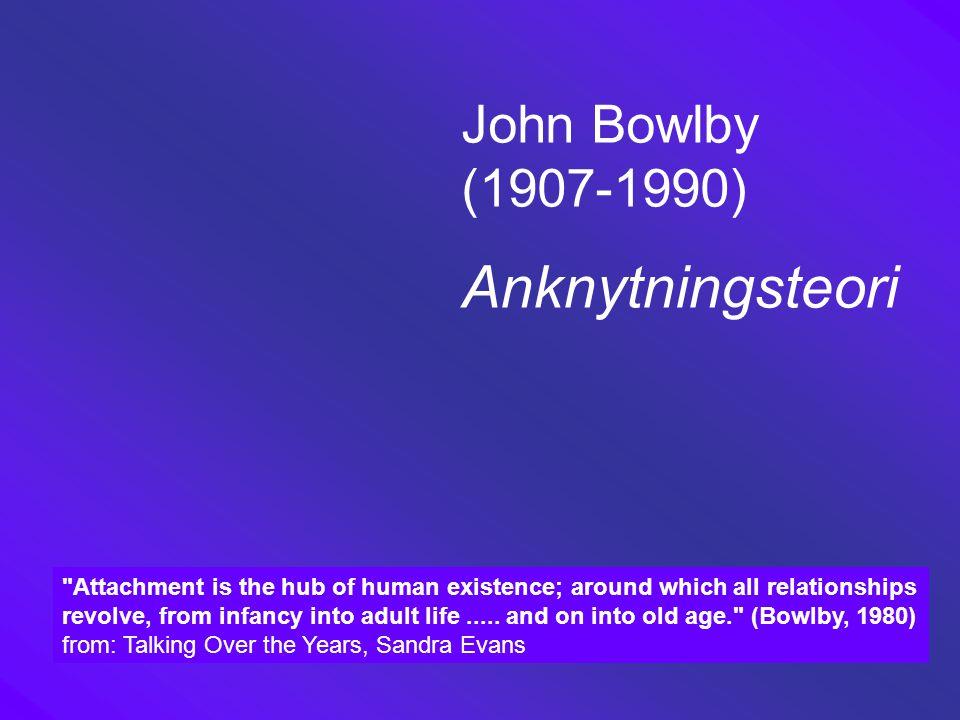 Anknytningsteori John Bowlby (1907-1990)