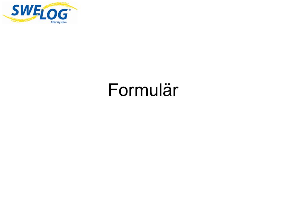 Formulär Tänkte nu gå igenom vad ett formulär är och hur man kan skapa dem i Access.