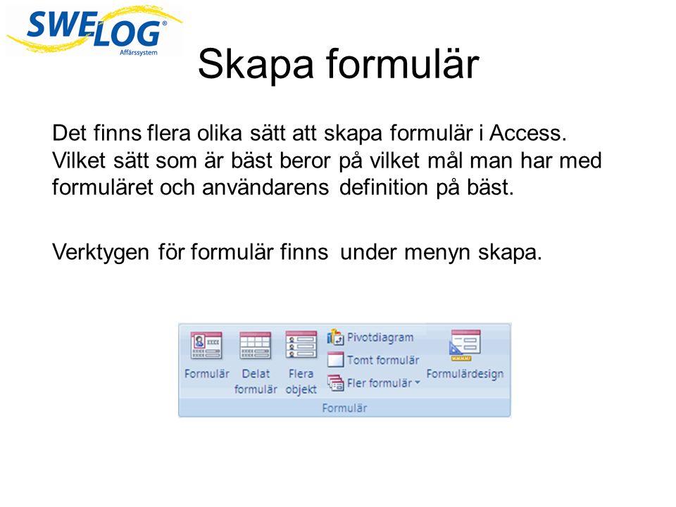 Skapa formulär