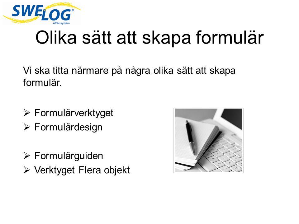 Olika sätt att skapa formulär
