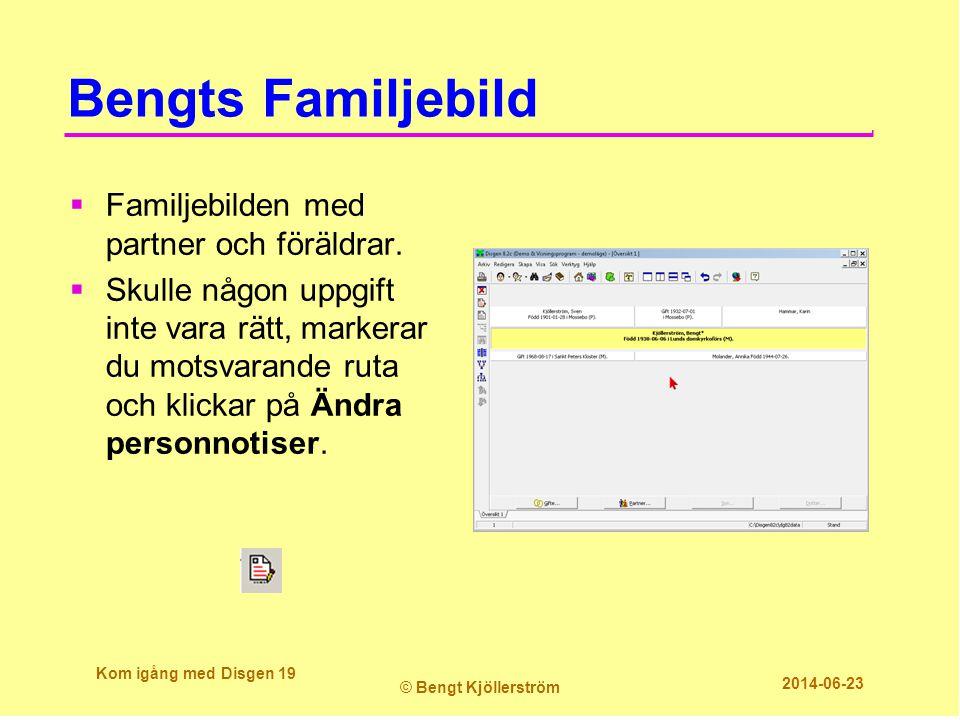 Bengts Familjebild Familjebilden med partner och föräldrar.