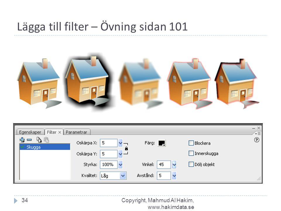 Lägga till filter – Övning sidan 101