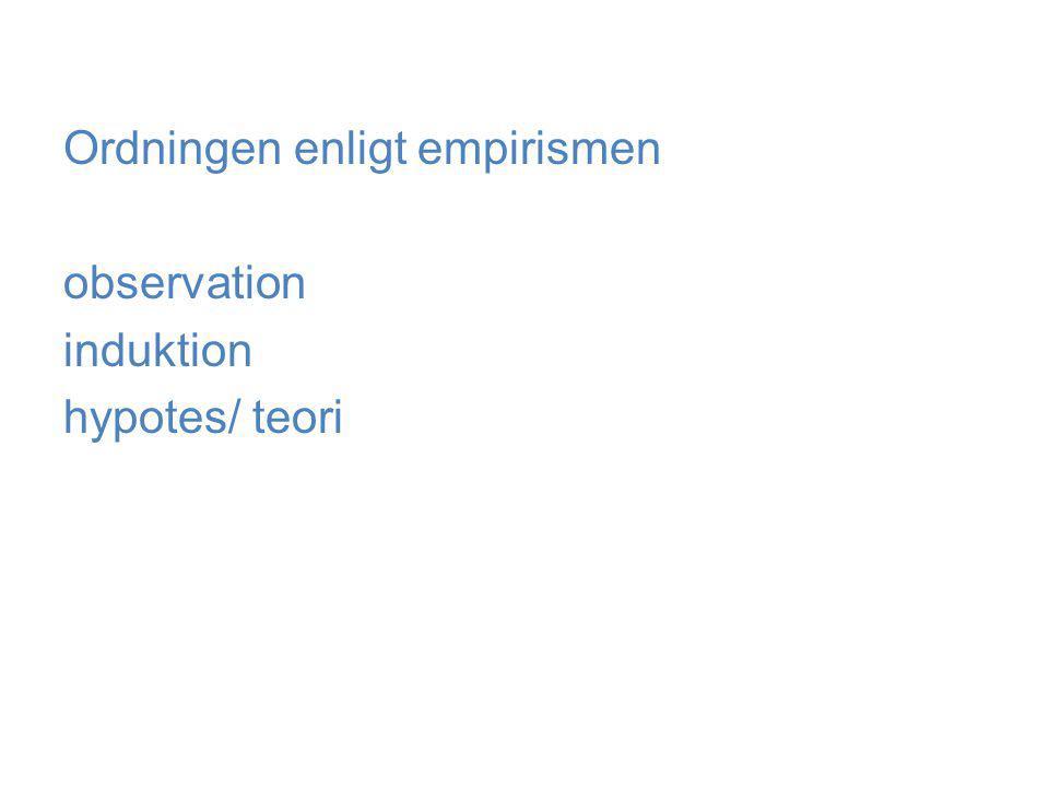 Ordningen enligt empirismen