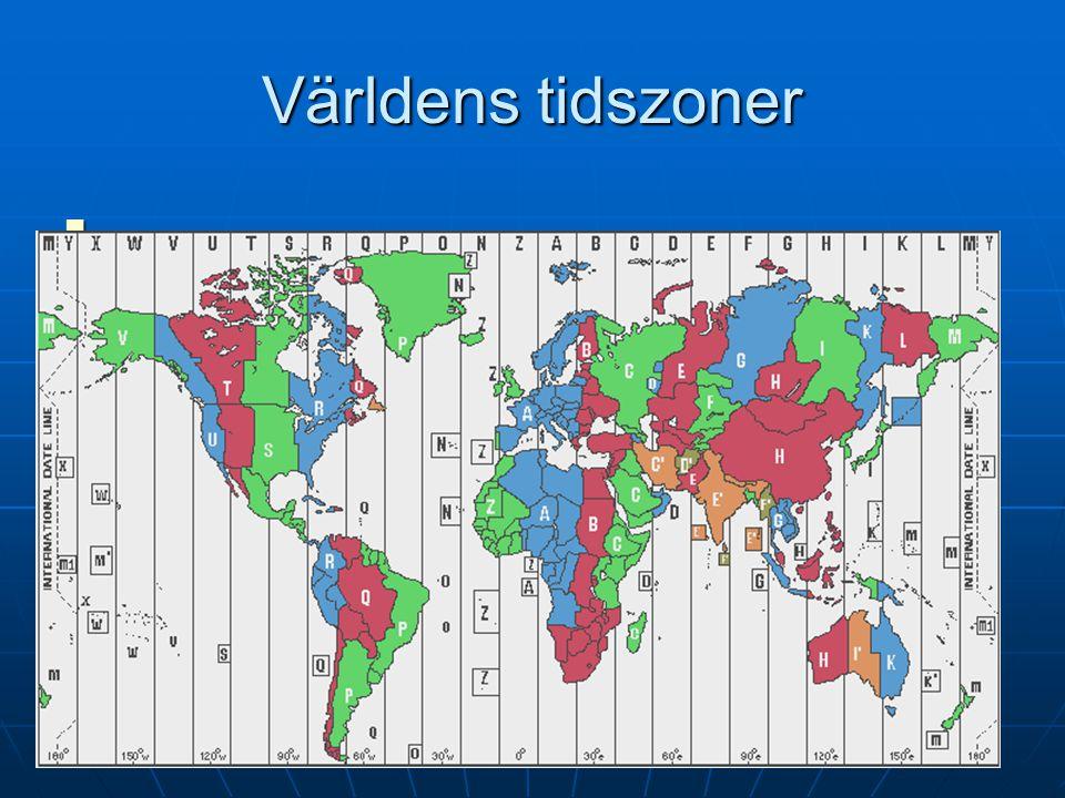 Världens tidszoner