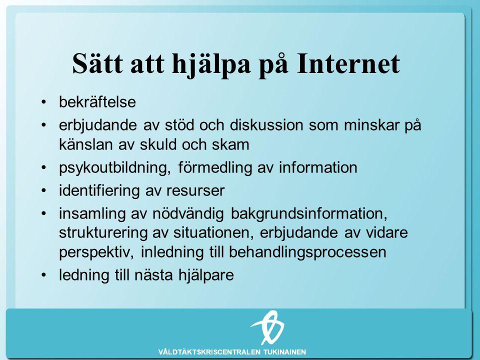 Sätt att hjälpa på Internet