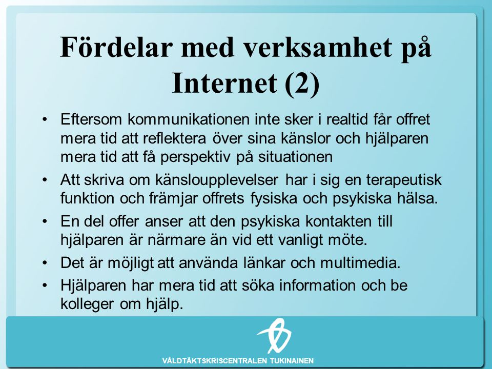 Fördelar med verksamhet på Internet (2)