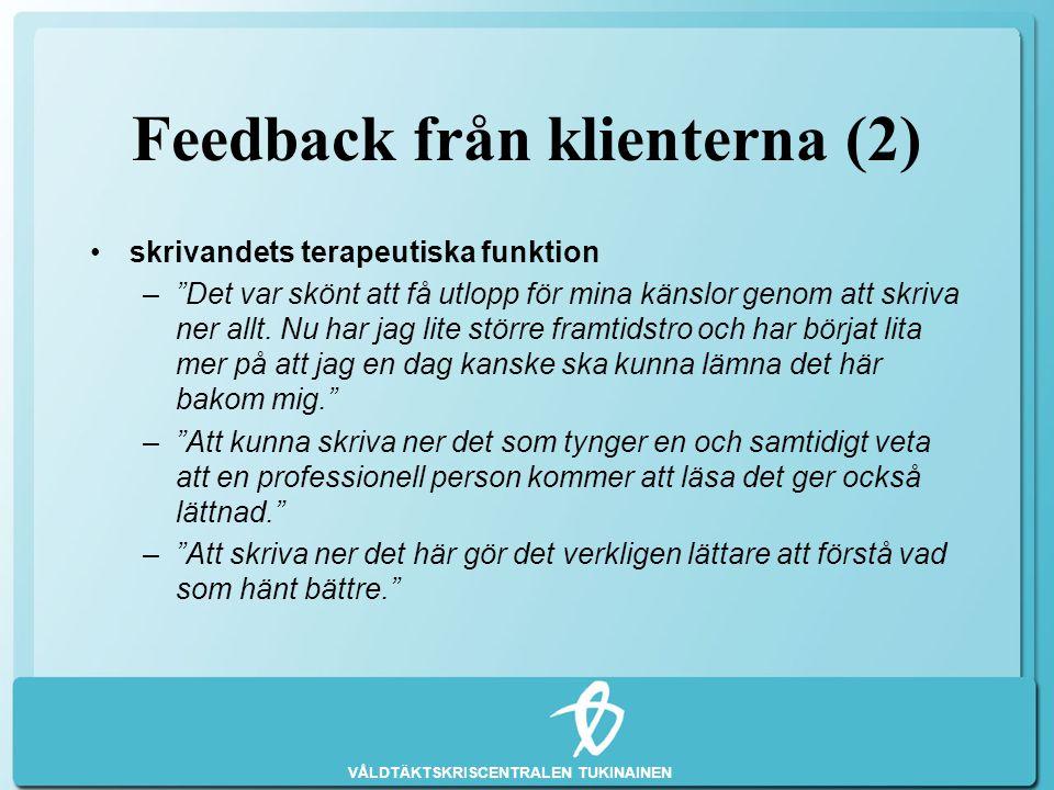 Feedback från klienterna (2)