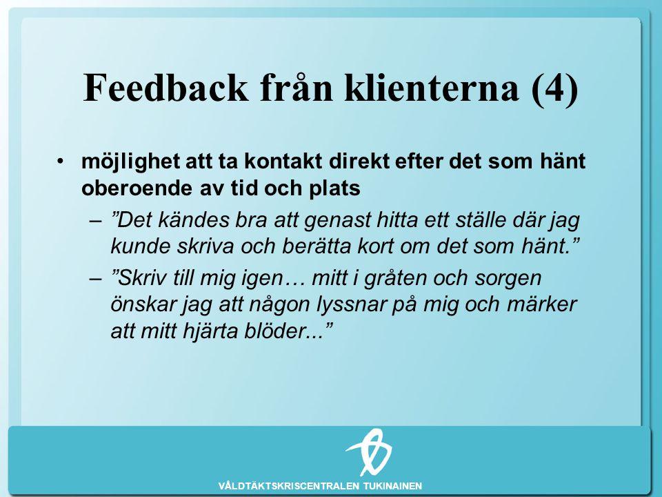 Feedback från klienterna (4)