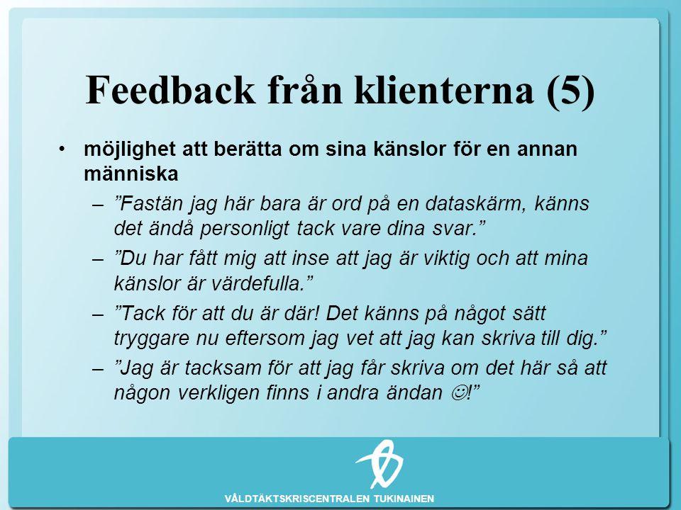 Feedback från klienterna (5)