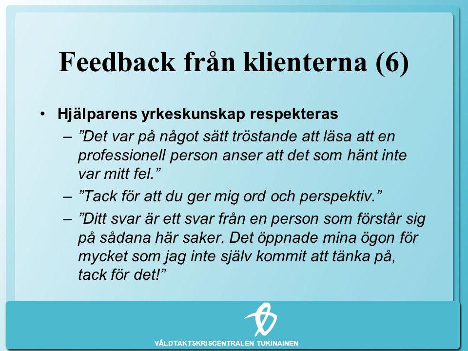Feedback från klienterna (6)
