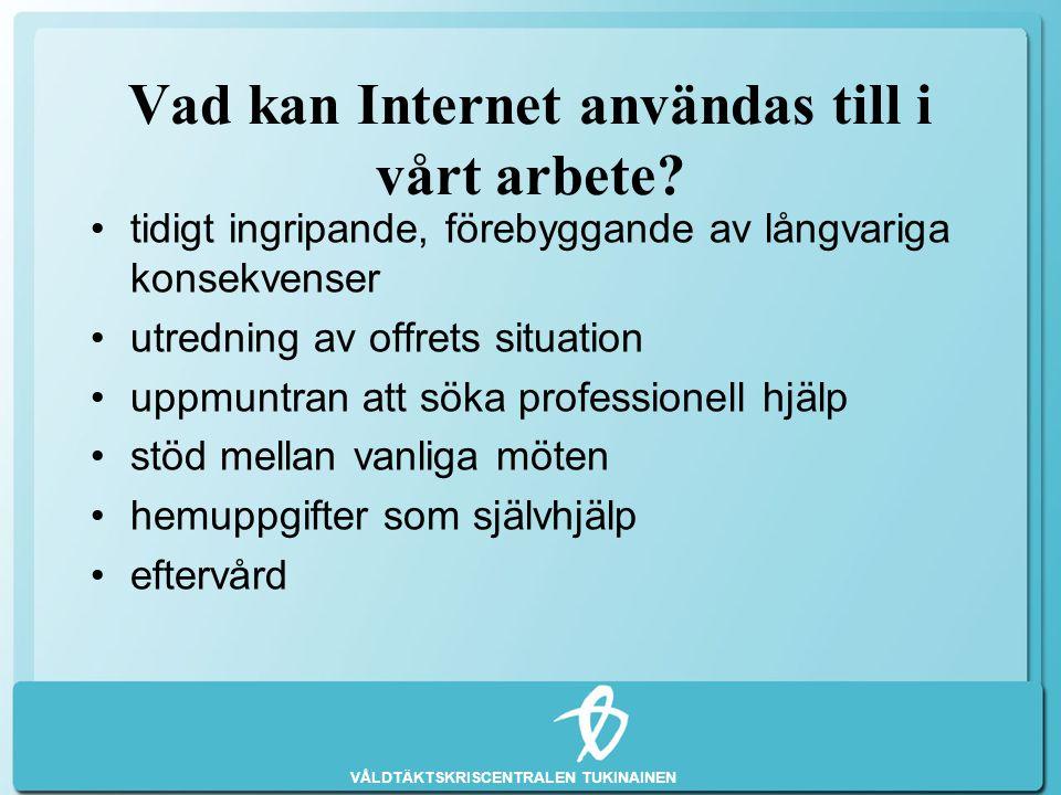 Vad kan Internet användas till i vårt arbete