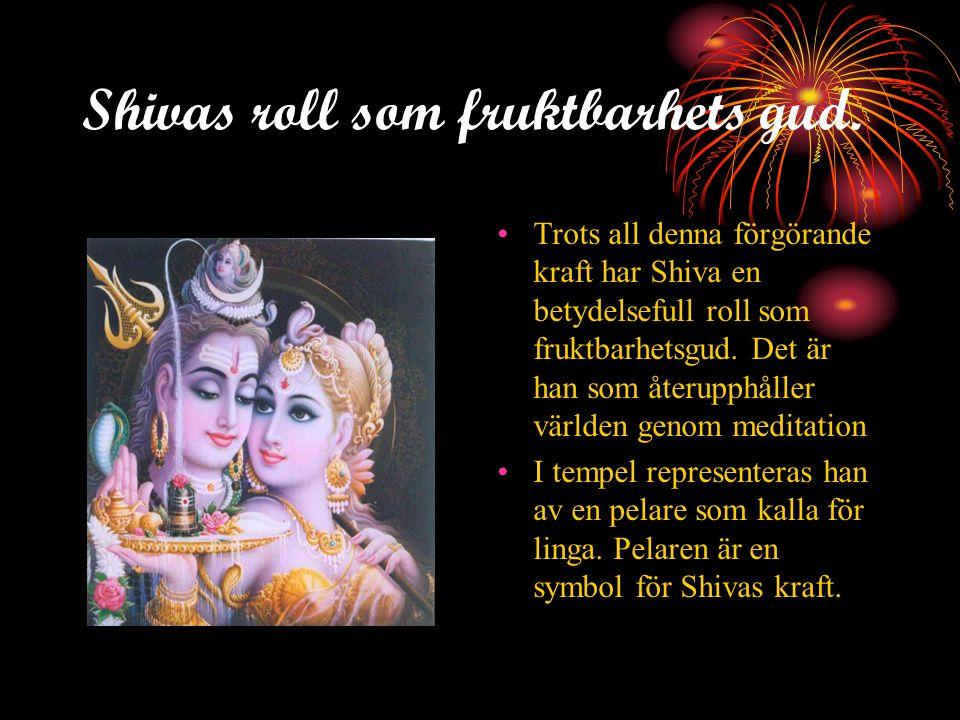 Shivas roll som fruktbarhets gud.