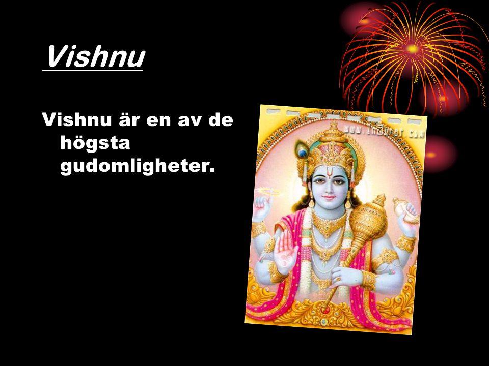 Vishnu Vishnu är en av de högsta gudomligheter.