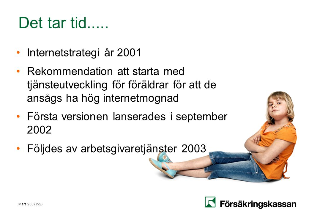 Det tar tid..... Internetstrategi år 2001