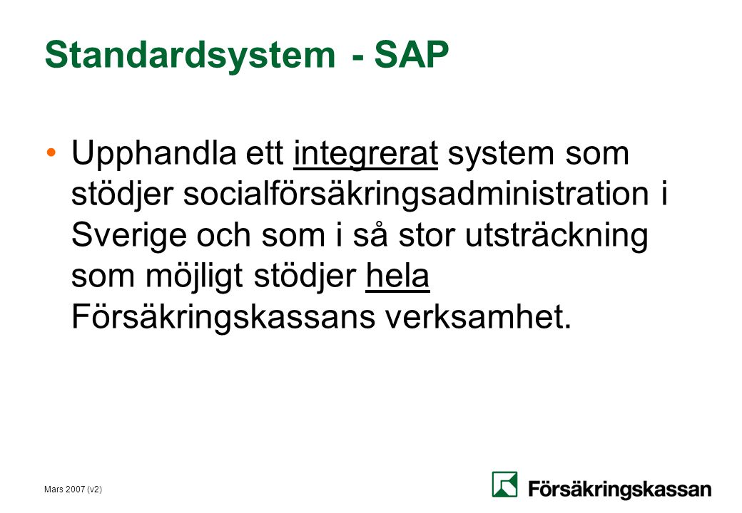 Standardsystem - SAP