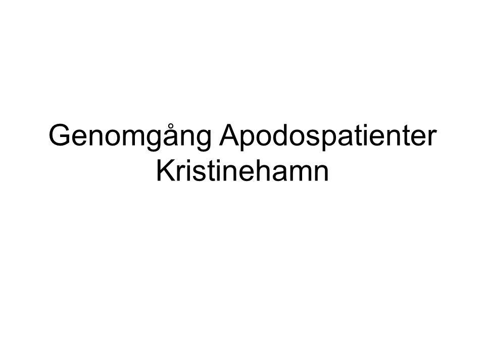 Genomgång Apodospatienter Kristinehamn