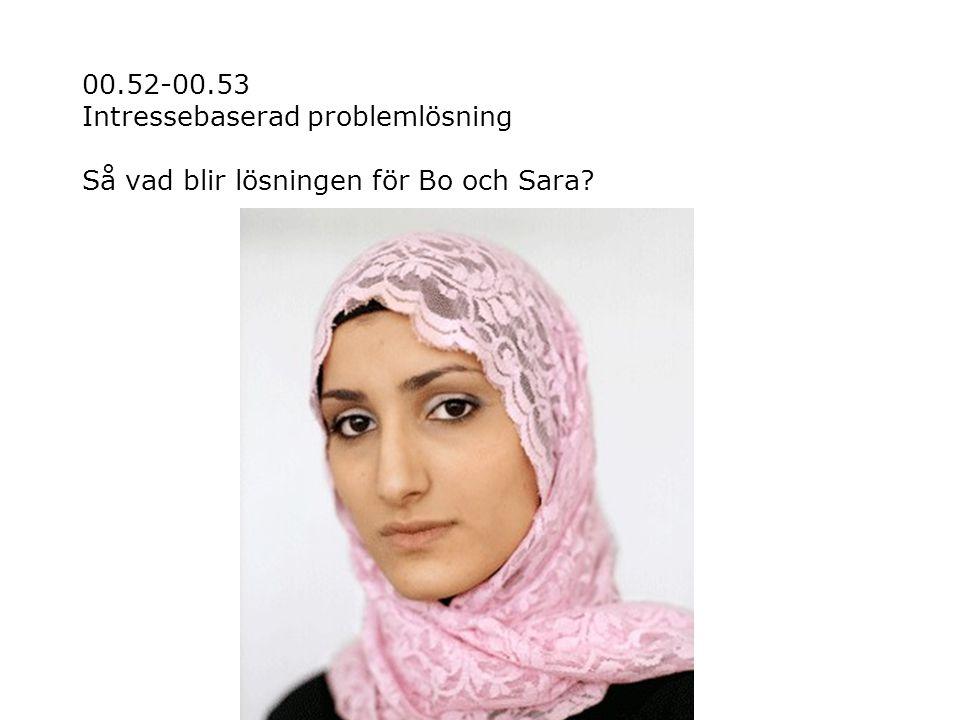 00.52-00.53 Intressebaserad problemlösning Så vad blir lösningen för Bo och Sara