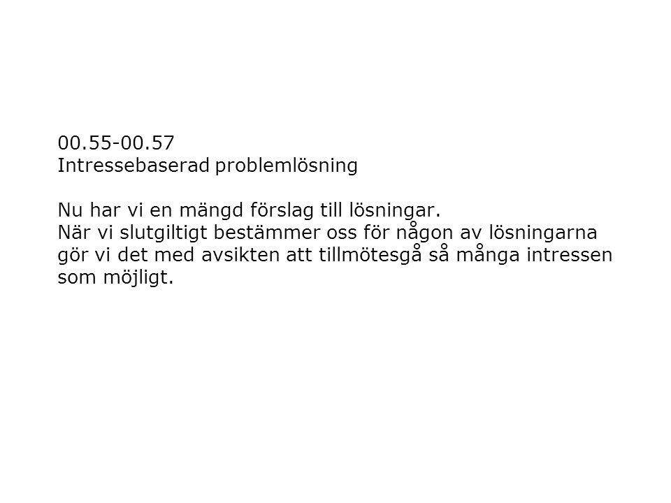 00.55-00.57 Intressebaserad problemlösning Nu har vi en mängd förslag till lösningar.